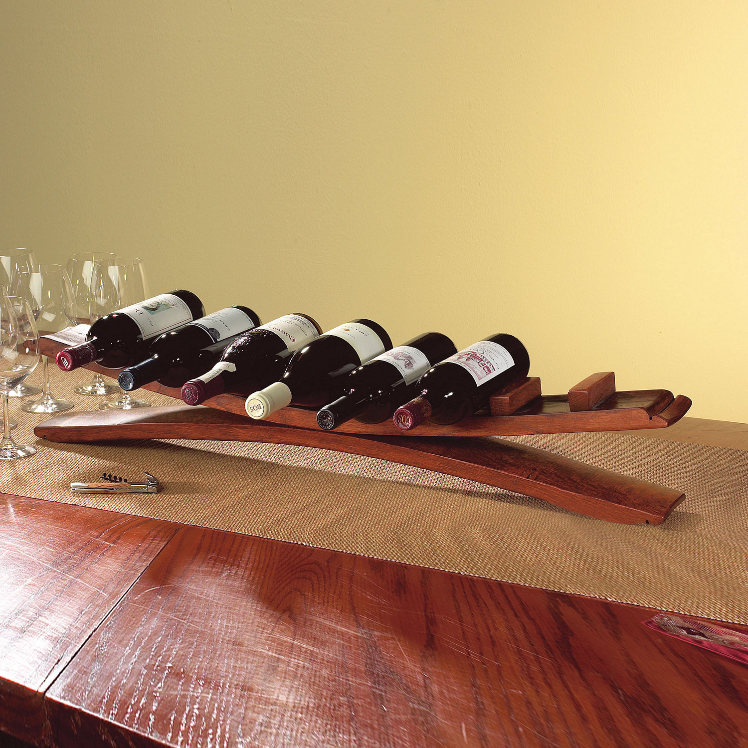 Arched Oak Stave Wine Rack - Wine Enthusiast