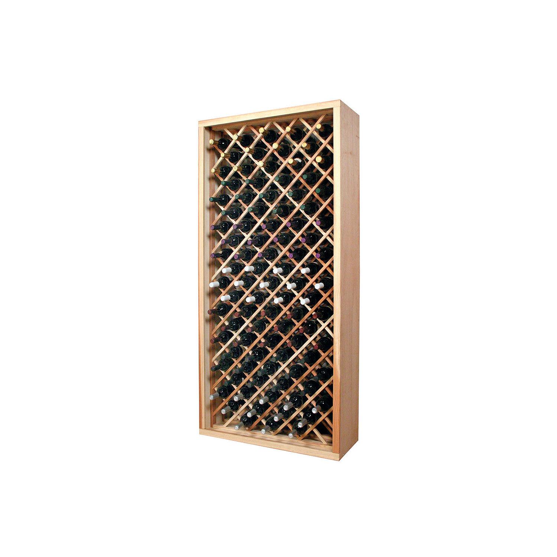 Sonoma Designer Wine Rack Kit - 90 Bottle Individual Diamond Bin ...