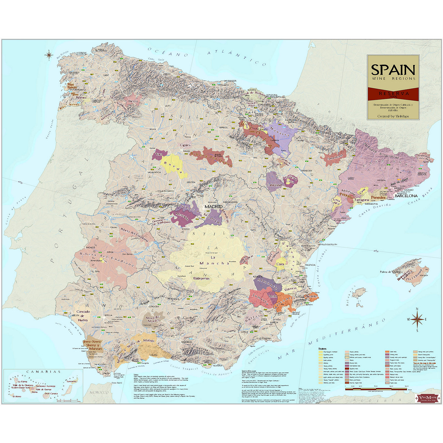 Wine Map Of Spain Wine Enthusiast - Map of spain