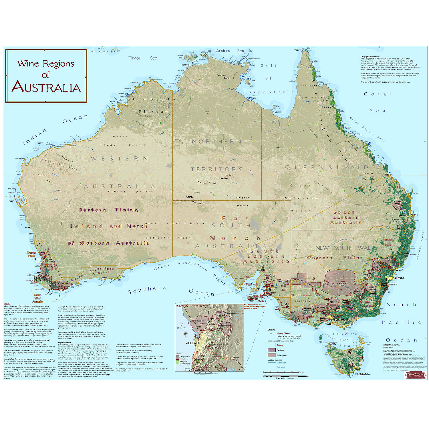 Wine Map Of Australia Wine Enthusiast - Us wine regions map