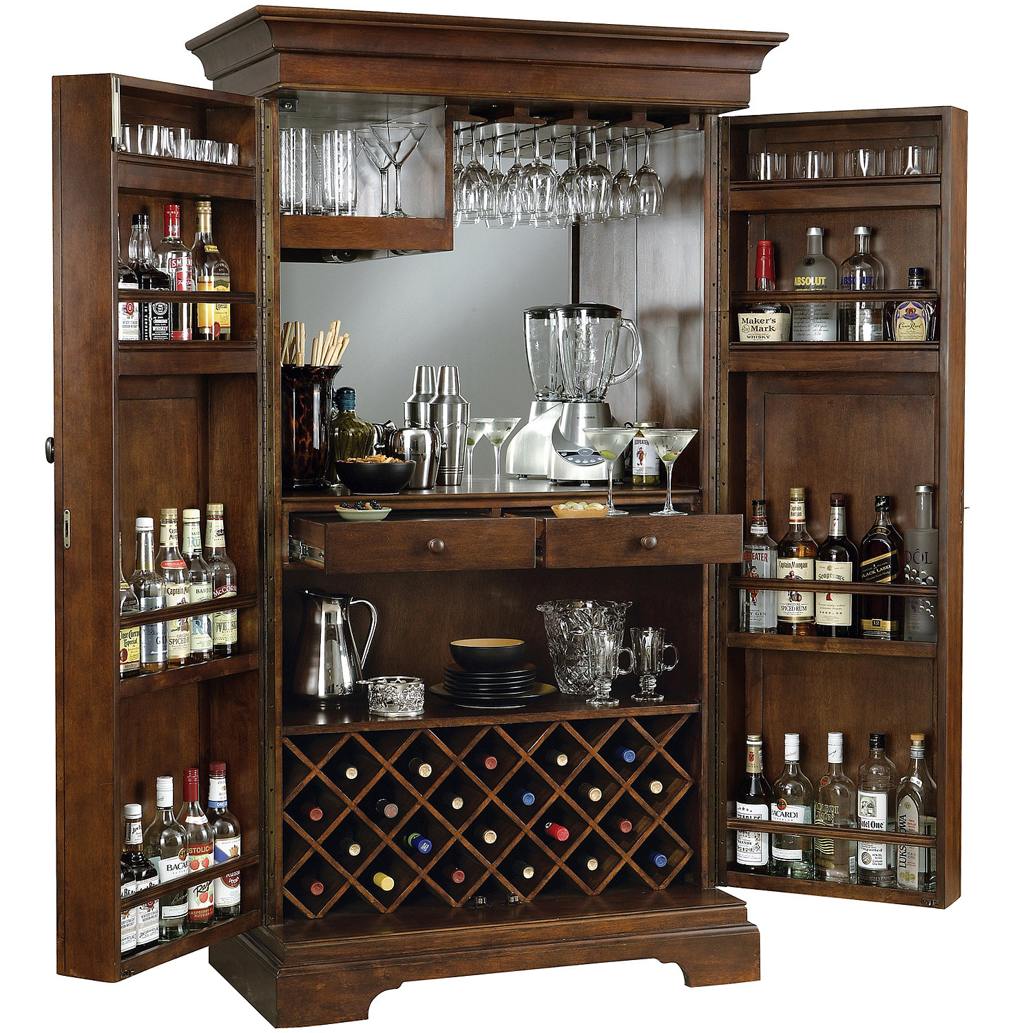 New Howard Miller Sonoma Armoire Wine Cabinet - Wine Enthusiast PY82