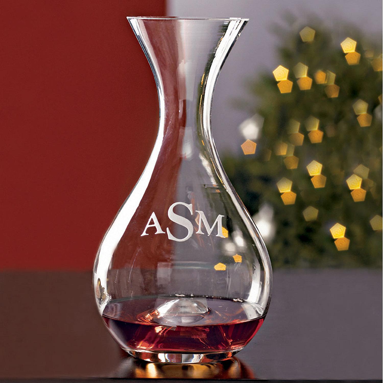 Monogrammed wine enthusiast u wine decanter wine enthusiast preparing zoom floridaeventfo Gallery