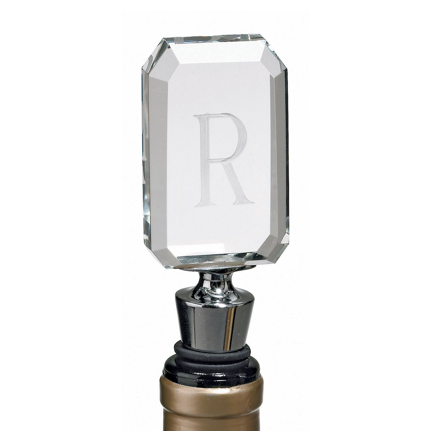Personalized 1 Initial Bottle Stopper - Wine Enthusiast