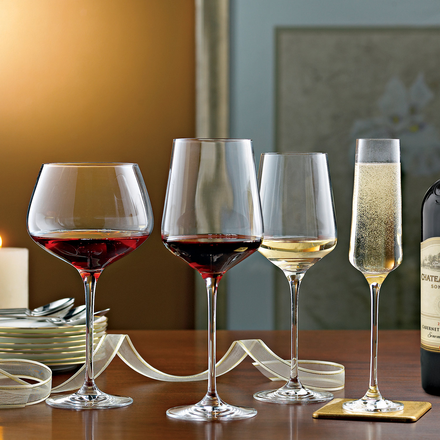 complete fusion infinity wine glass collection set of