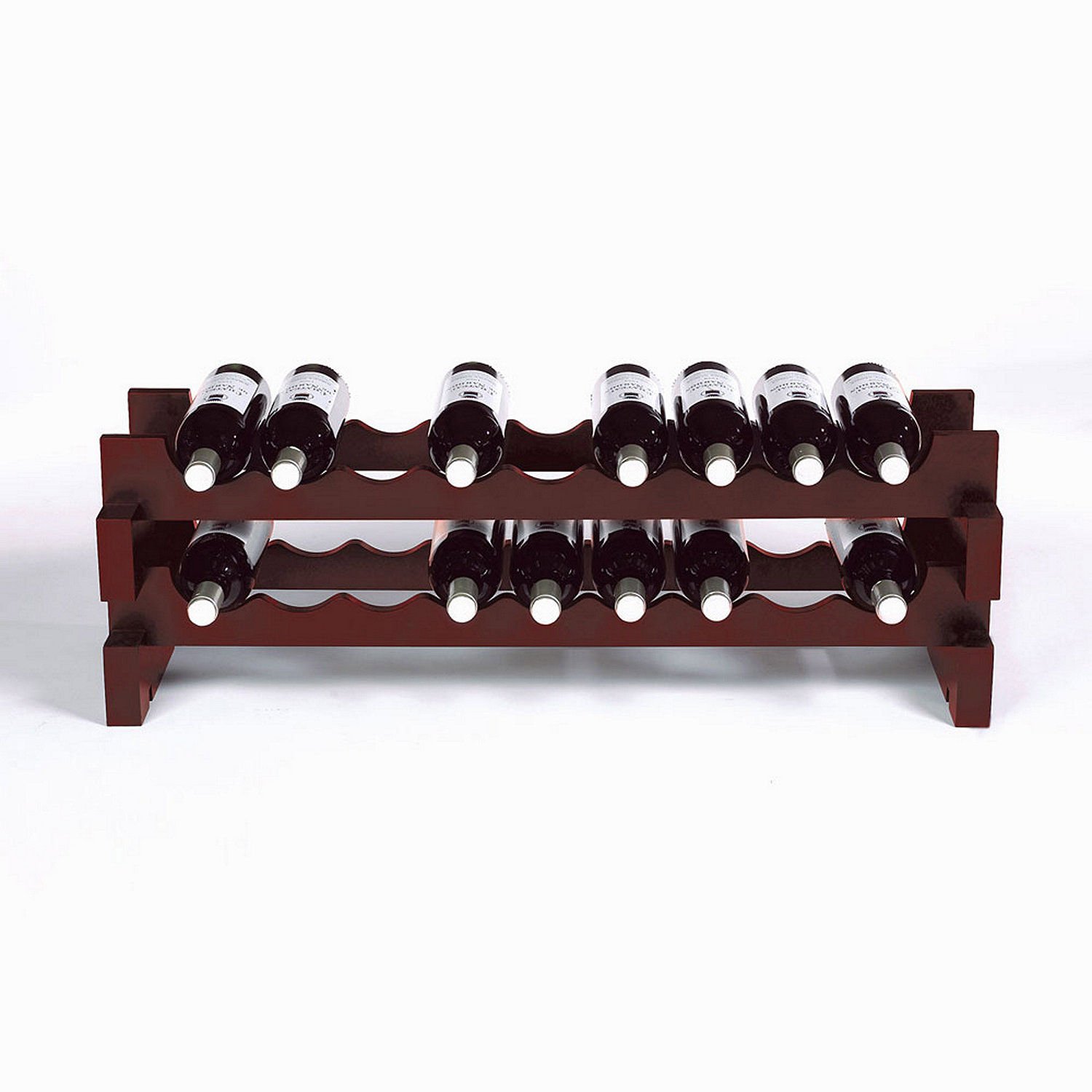 bottle stackable wine rack kit (mahogany)  wine enthusiast - preparing zoom