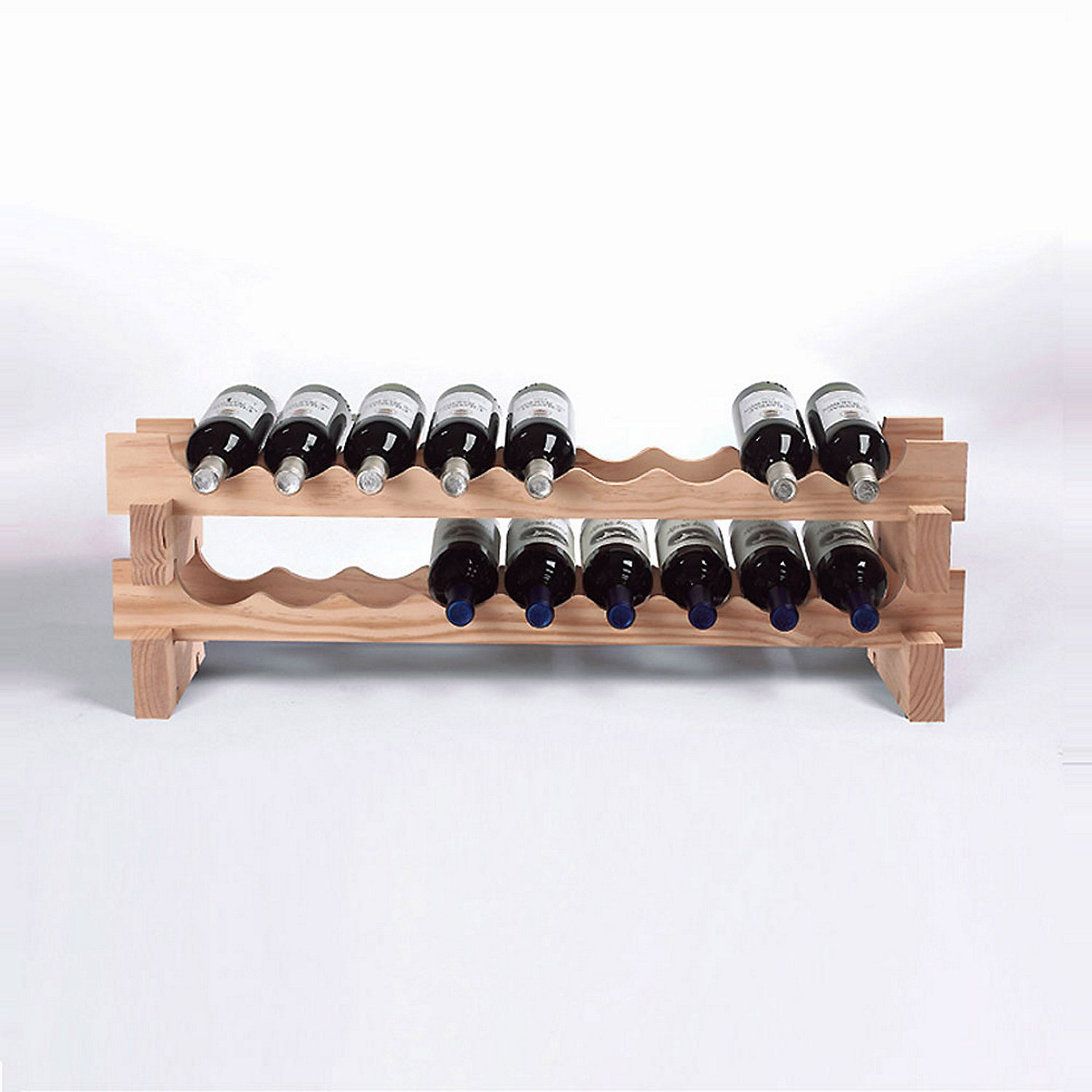 bottle stackable wine rack kit (natural)  wine enthusiast - preparing zoom