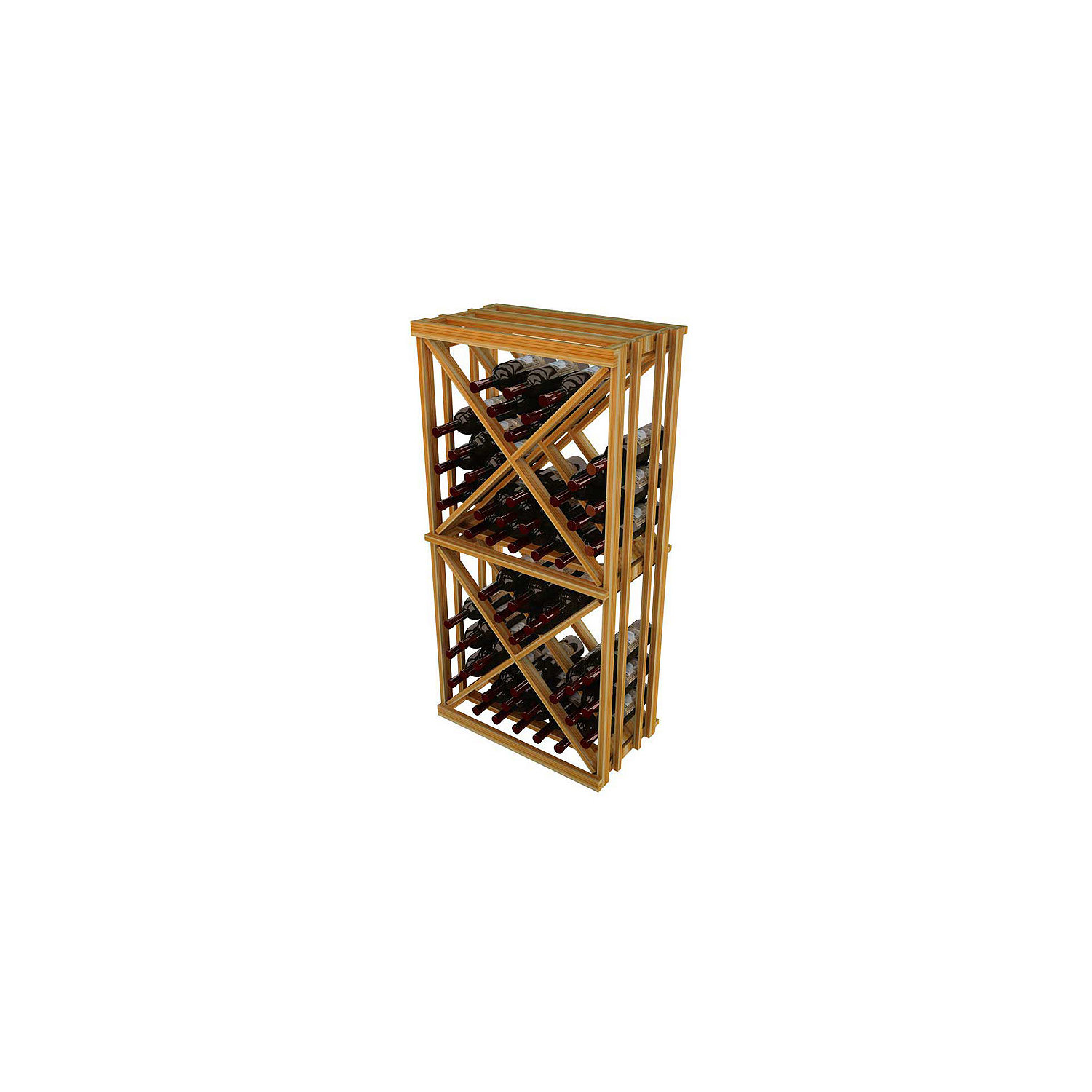 napa vintner stackable wine rack  open diamond cube  wine enthusiast -  stackable wine rack  open diamond cube preparing zoom
