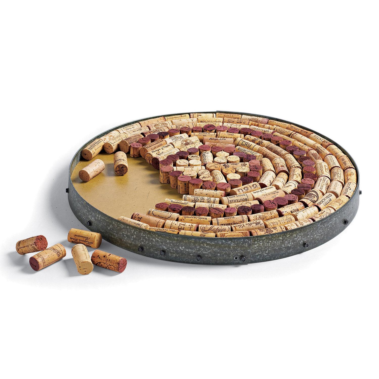 Wine cork craft kits -  Wine Barrel Hoop Cork Kit Preparing Zoom