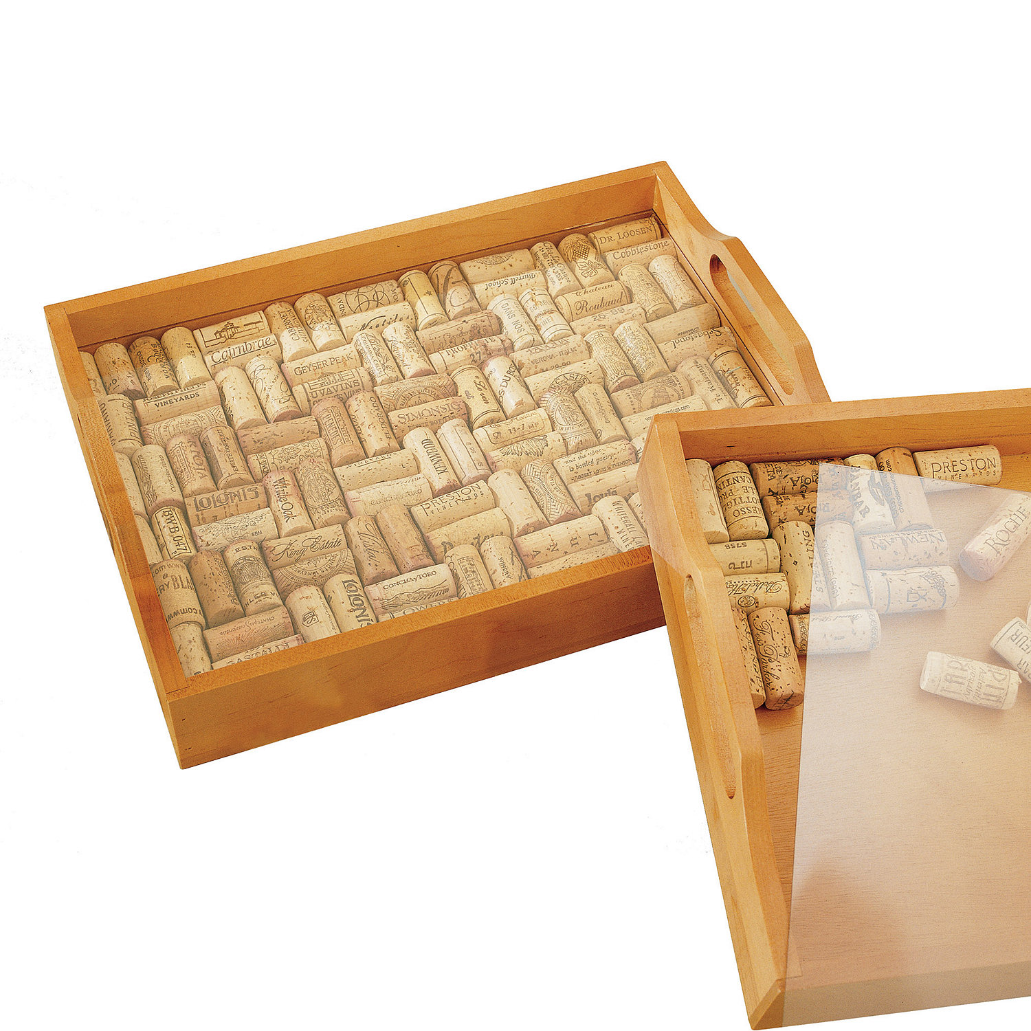 Wine Cork Serving Tray Kit - Wine Enthusiast