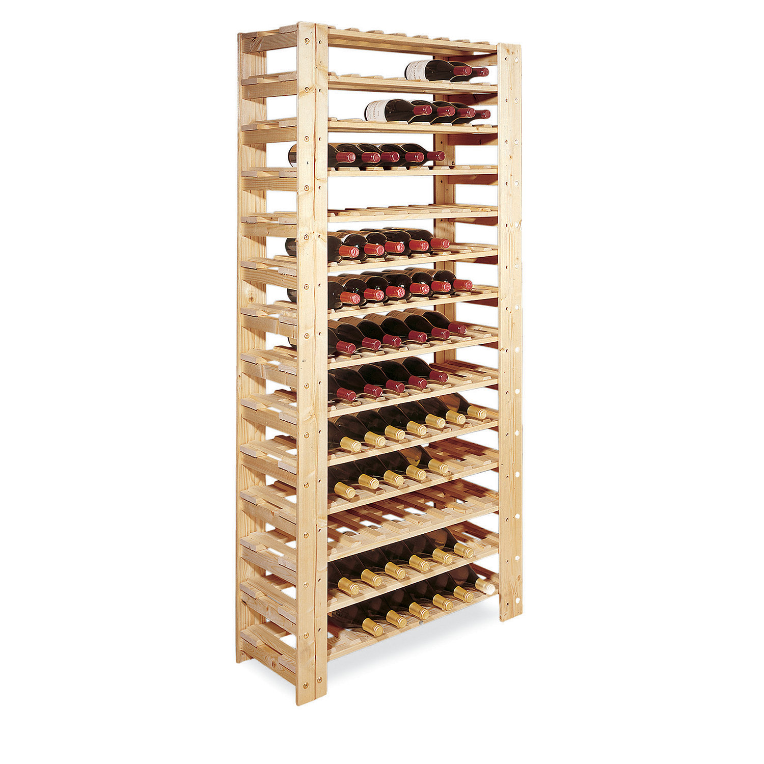 Superior Swedish 126 Bottle Wine Rack