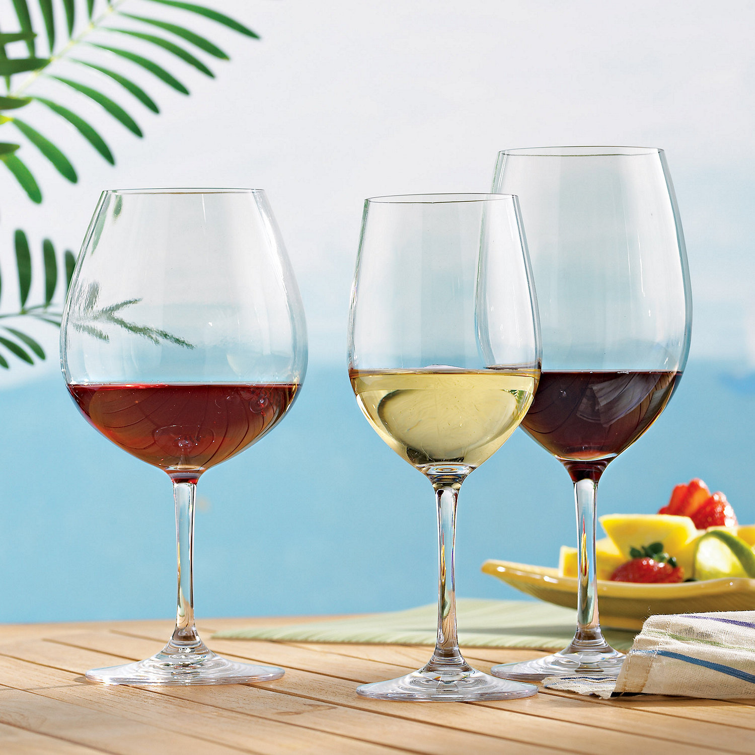 wine glasses party set set of 12 - Plastic Stemless Wine Glasses