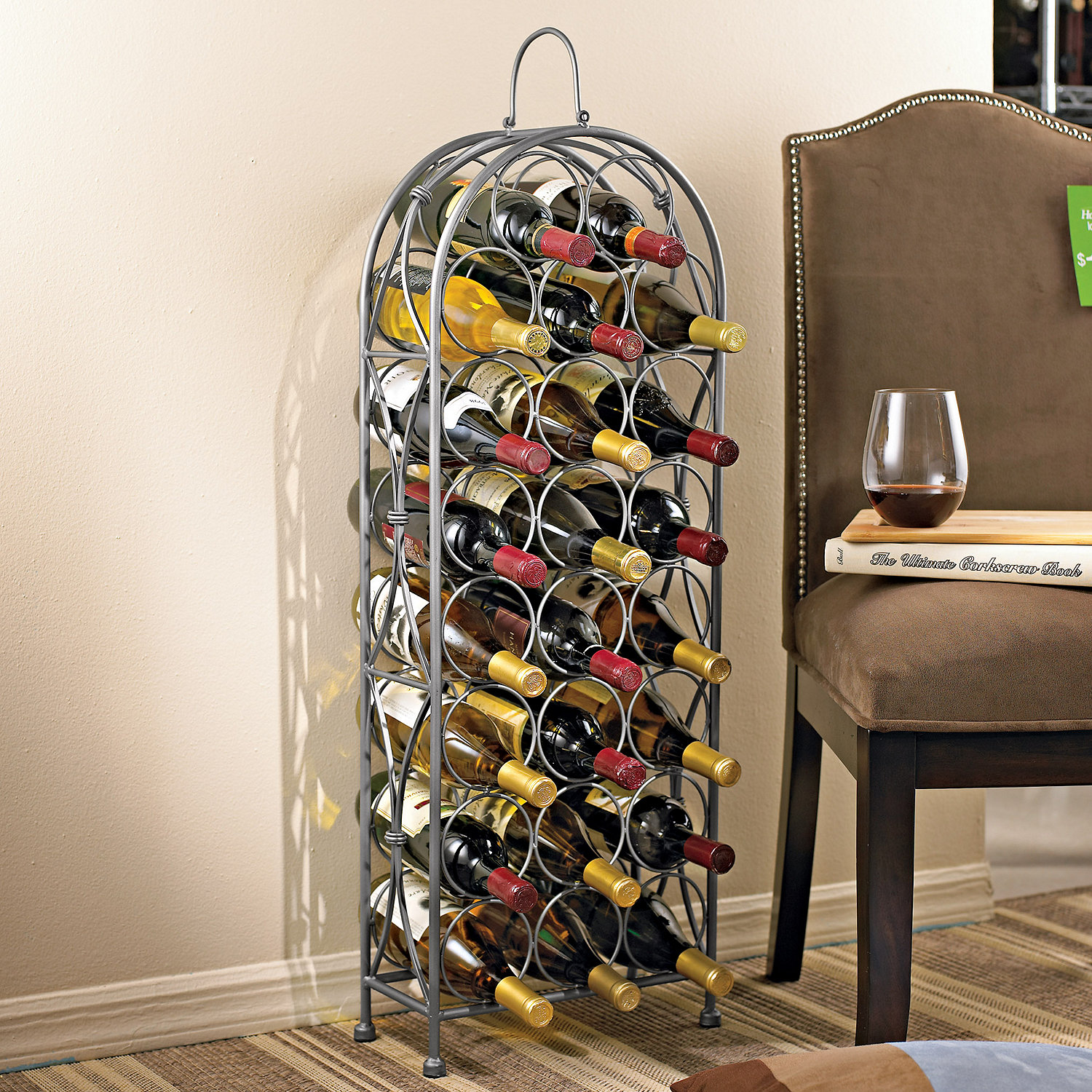 Wrought Iron Wine Rack Preparing Zoom