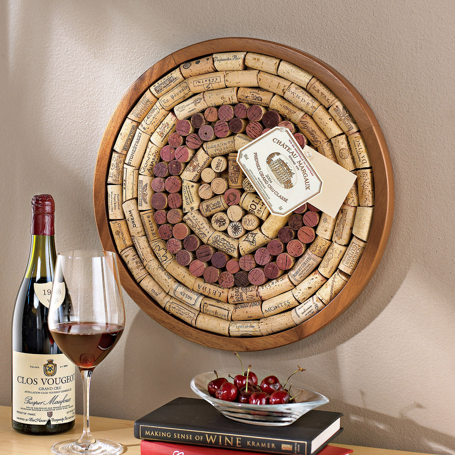 Round Wine Cork Board Kit - Wine Enthusiast