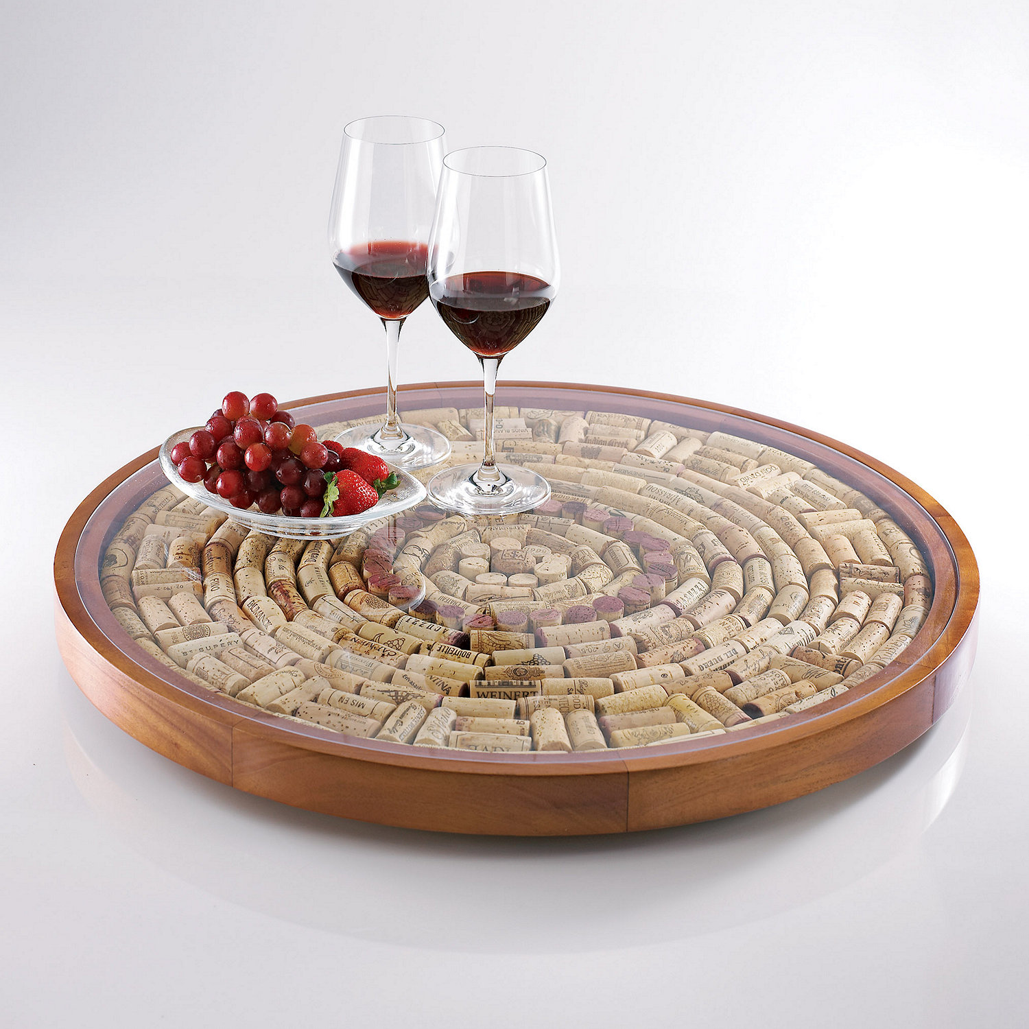 Preparing Zoom Wine Cork Lazy Susan Kit