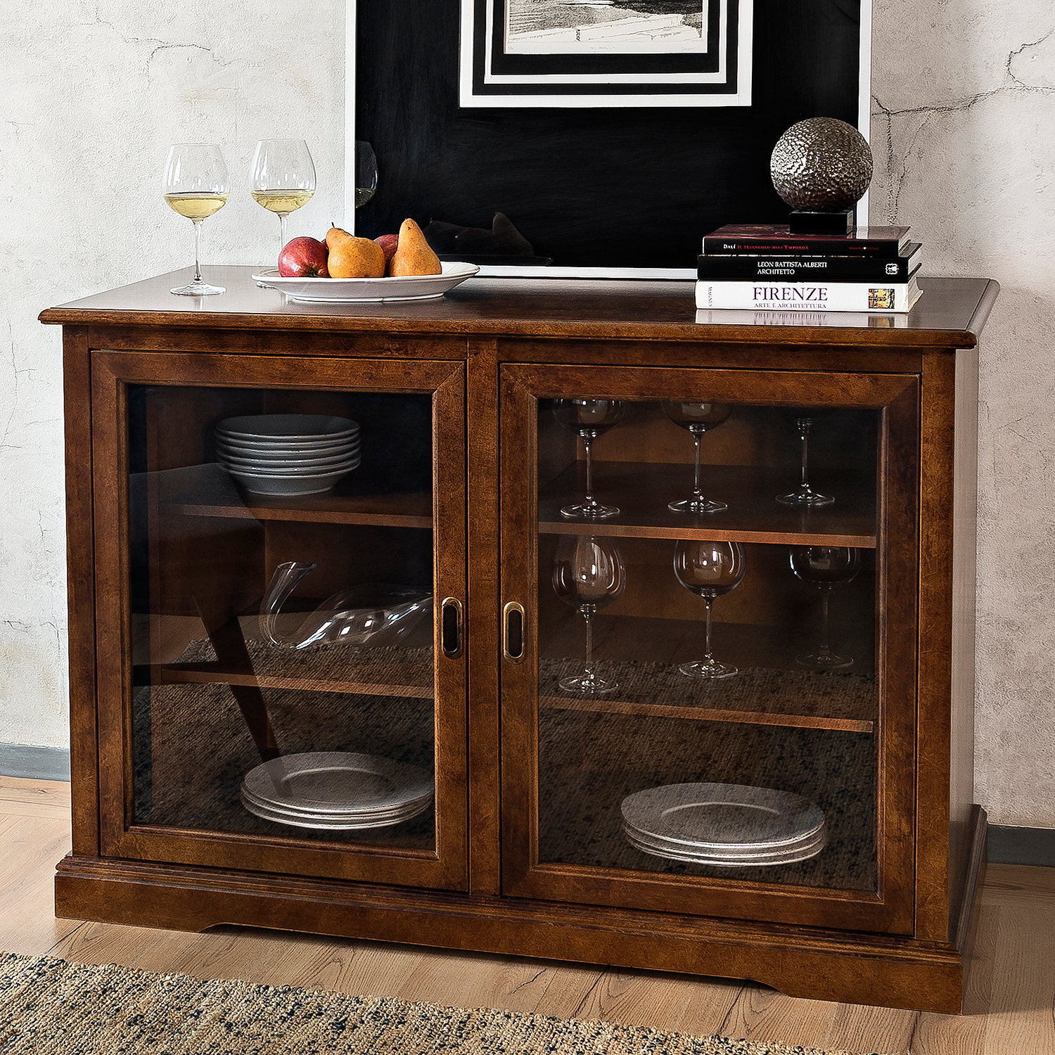 Siena Mezzo Wine Credenza Walnut Wine Enthusiast