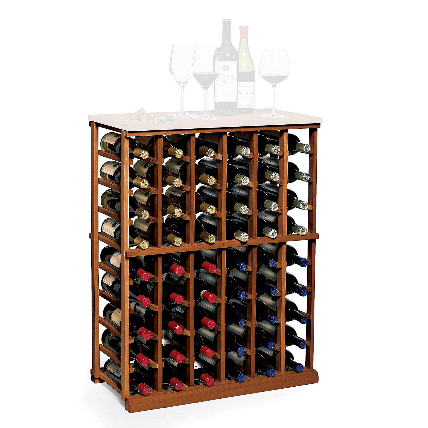 wine rack kit 6 column half height