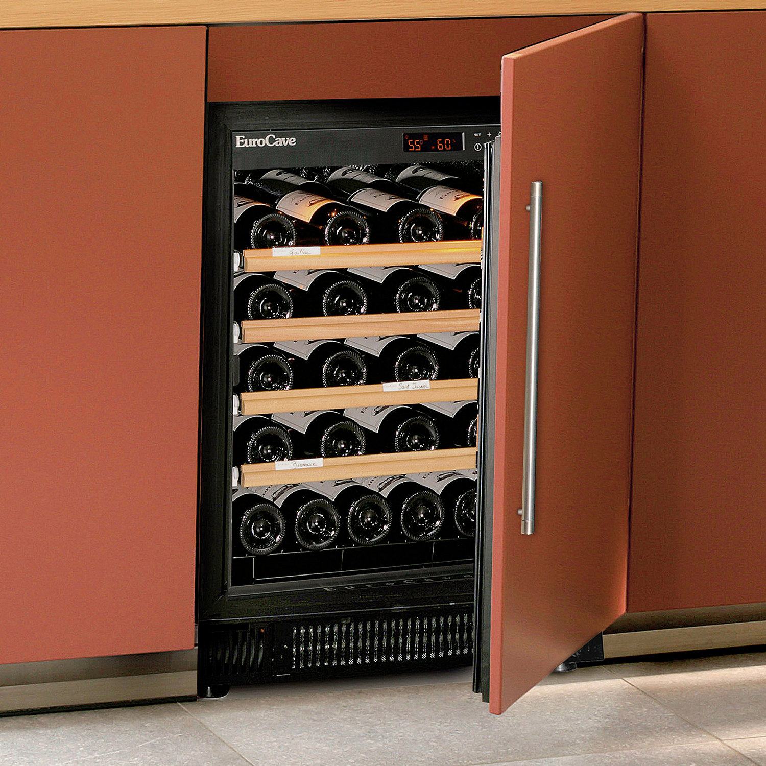 Integrated Wine Cabinet Built In Under Counter Wine Refrigerators Wine Refrigerators