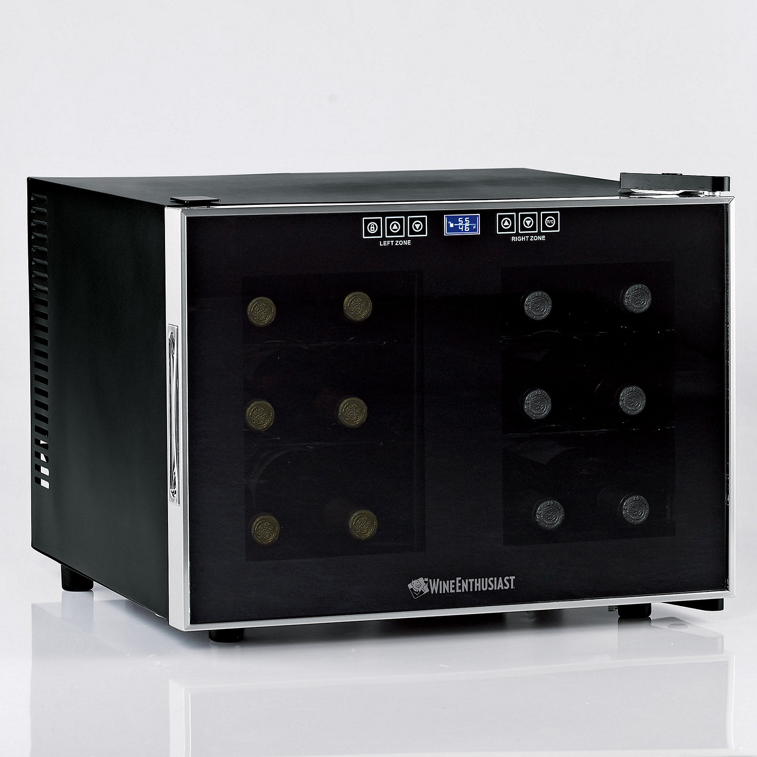 Wine Enthusiast Silent 12 Bottle Dual Zone Touchscreen Wine ...