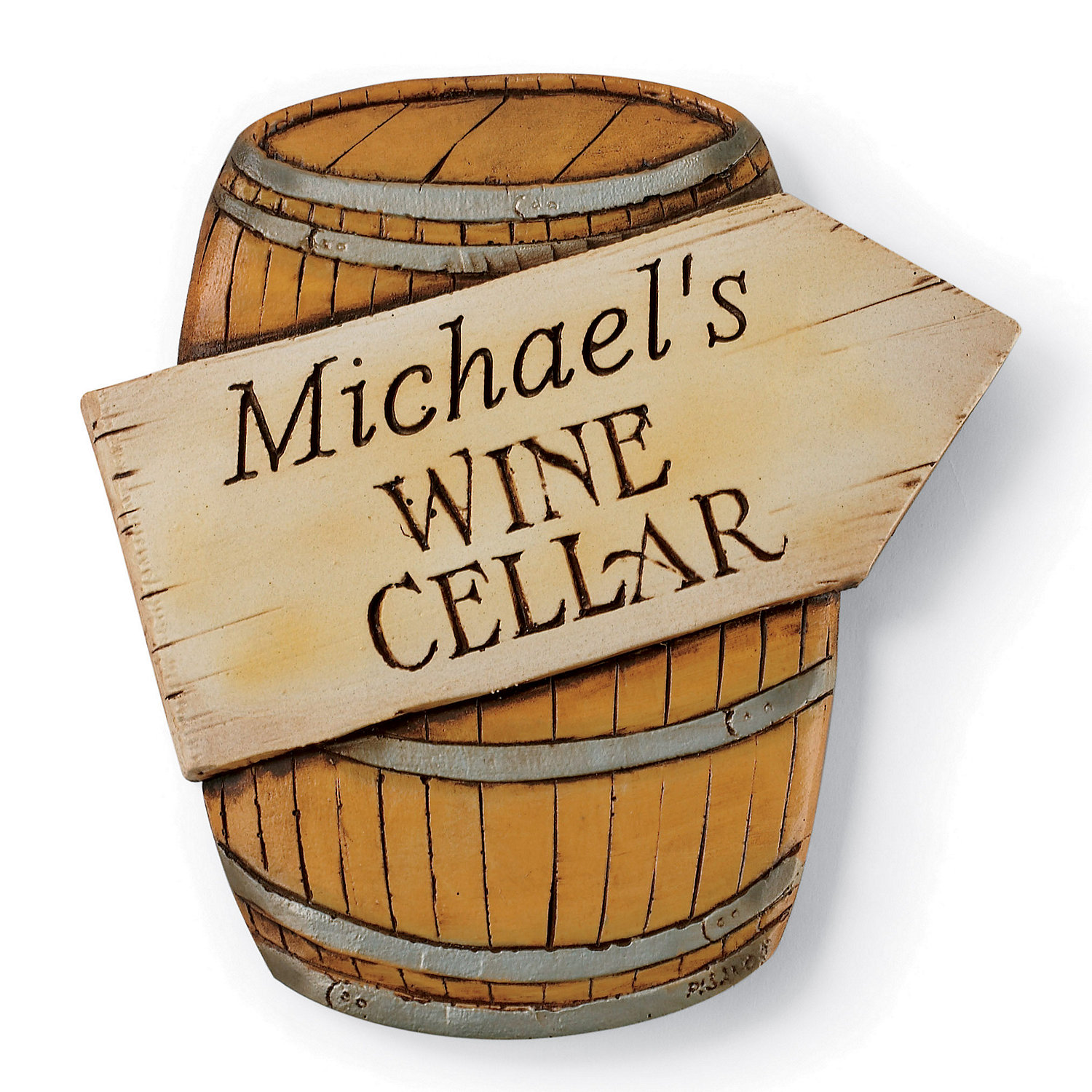 personalized wine cellar barrel sign wine enthusiast