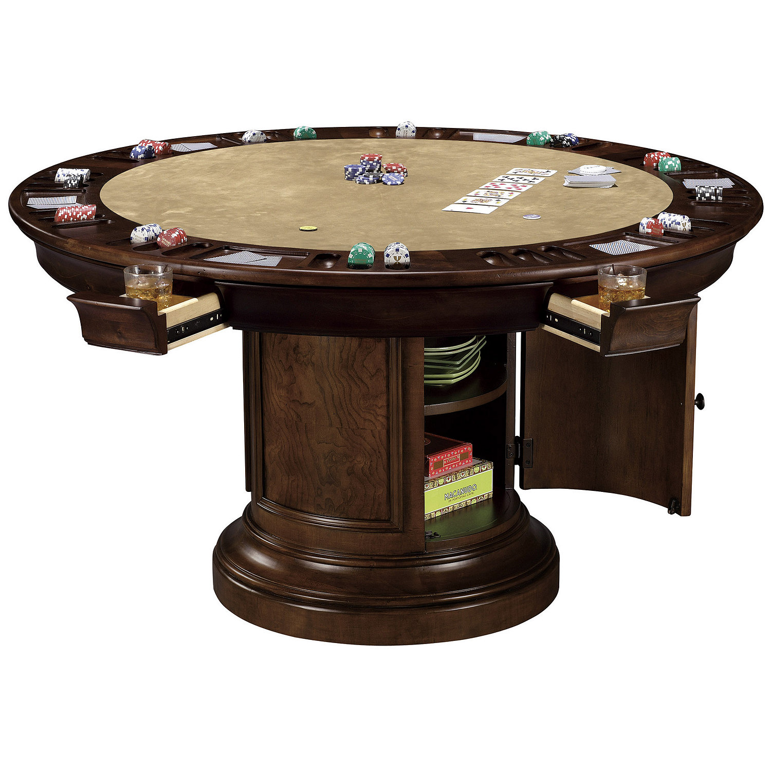Howard Miller Ithaca Game Table Wine Enthusiast