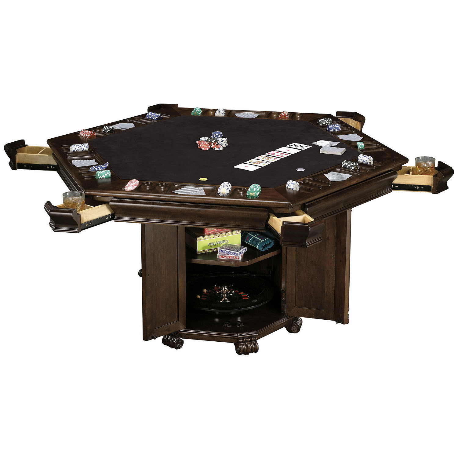 Game Table And Chairs Set Howard Miller Niagara Game Table Wine Enthusiast