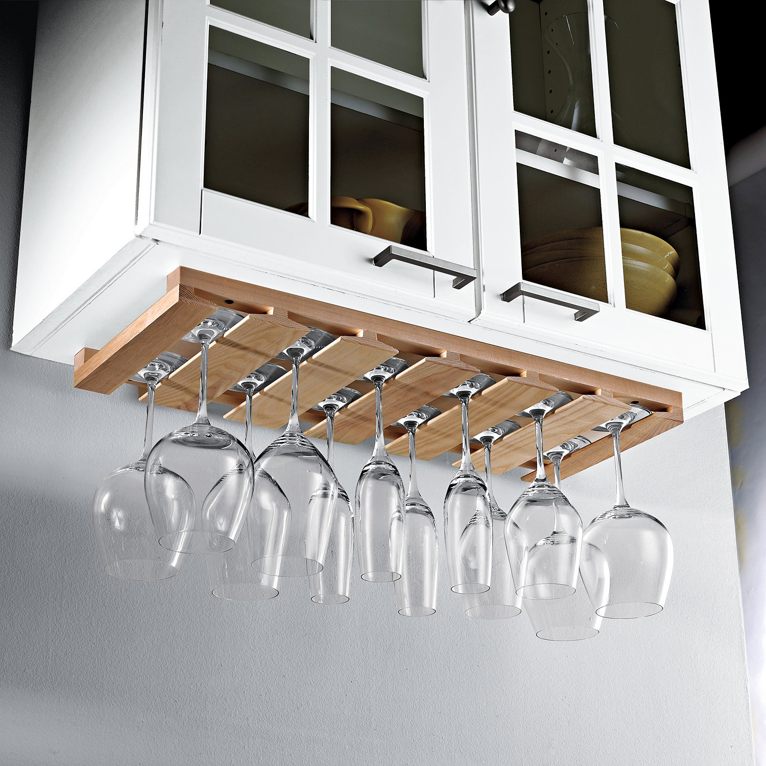 Wooden Hanging Stemware Rack - Wine Enthusiast