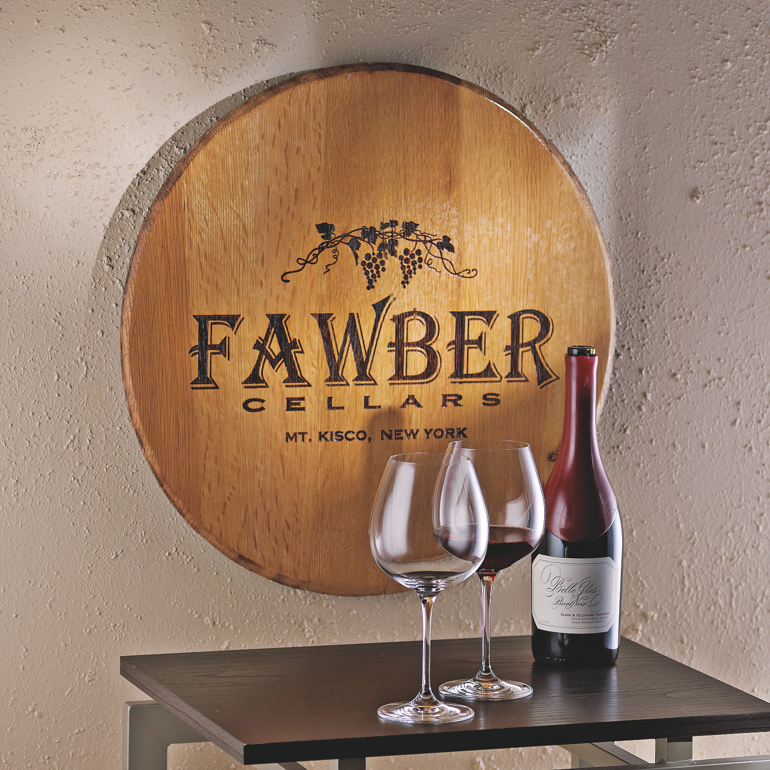 Wine Barrel Wall Decor authentic barrel head wall plaque with personalized wine theme