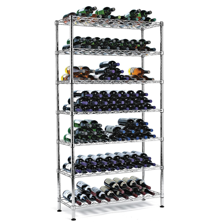 metal wine racks  metal wine glass racks  wine enthusiast - steel pantry wine rack ( bottles)