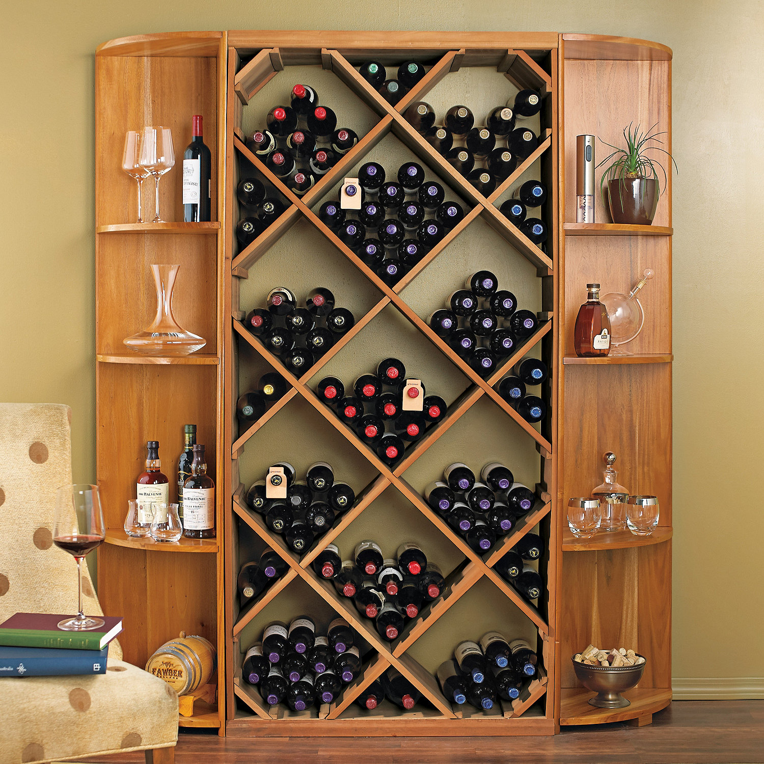 Preparing Zoom  sc 1 st  Wine Enthusiast & Nu0027FINITY DIY Diamond Bin u0026 Dual Quarter Round Shelf Wine Rack Set ...