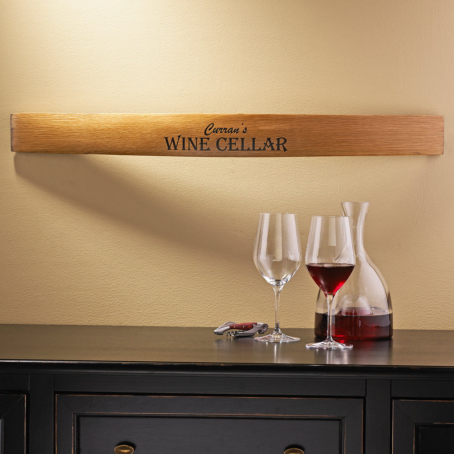 Personalized Barrel Stave Wall Sign - Wine Enthusiast