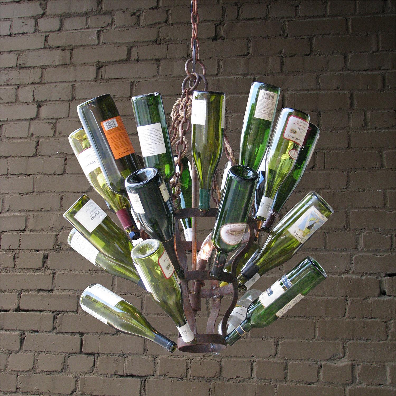 Luce De Vino Wine Bottle Chandelier Small Wine Enthusiast – Wine Bottle Chandelier