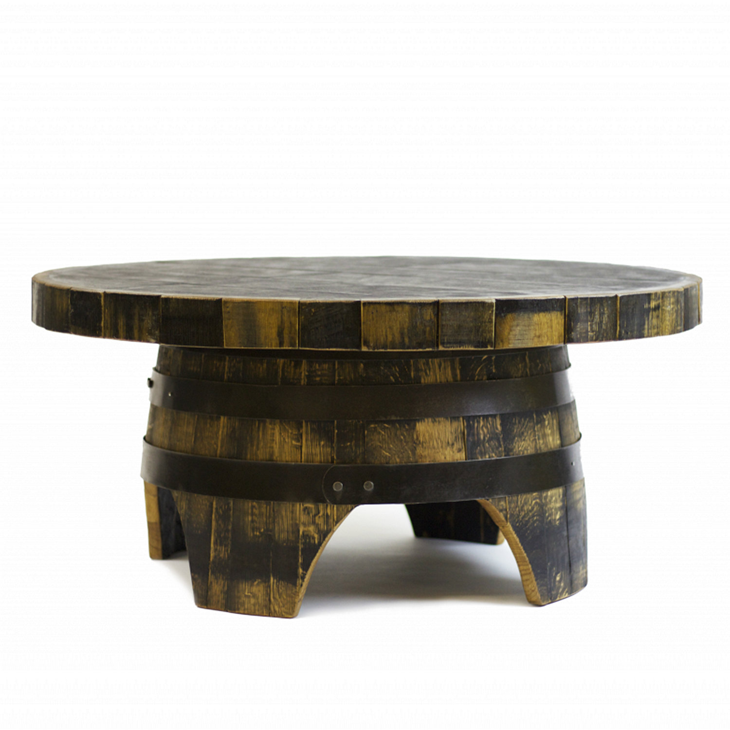 Whiskey Barrel Round Coffee Table Wine Enthusiast