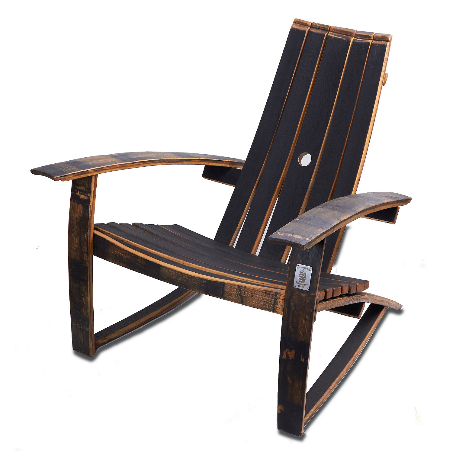 preparing zoom. whiskey barrel adirondack chair (closed top)  wine enthusiast