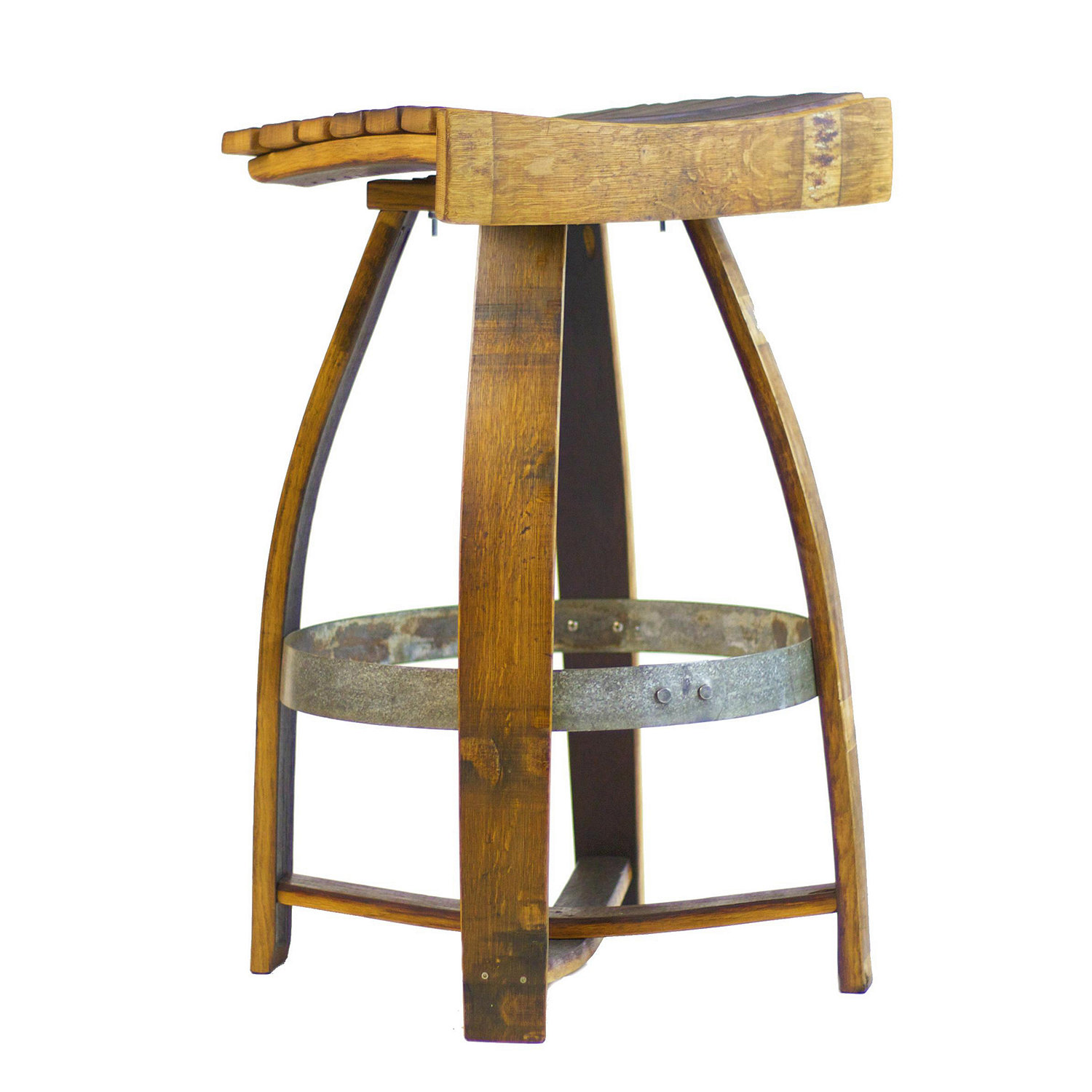 ... Bar Stool with Memory Swivel. Preparing Zoom  sc 1 st  Wine Enthusiast & Wine Barrel Bar Stool with Memory Swivel - Wine Enthusiast islam-shia.org
