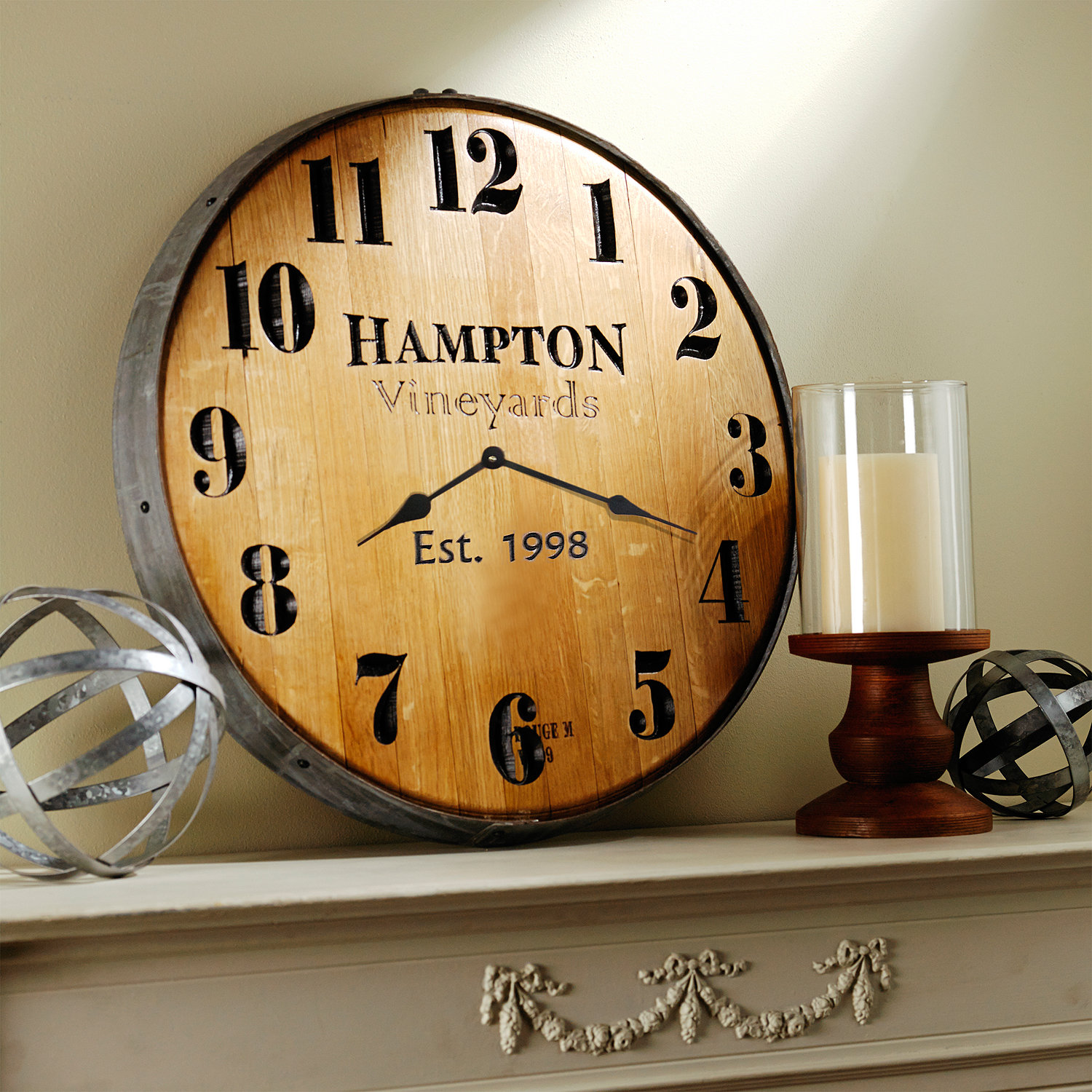 ... Personalized Wine Barrel Head Wall Clock. Preparing Zoom Pictures