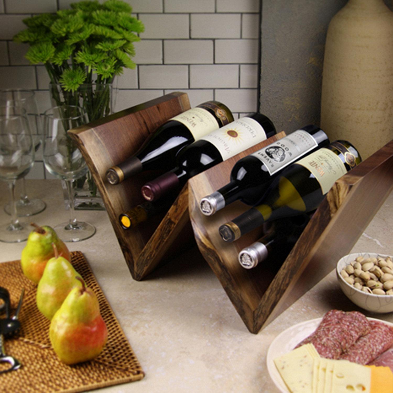 artisan wood w wine rack