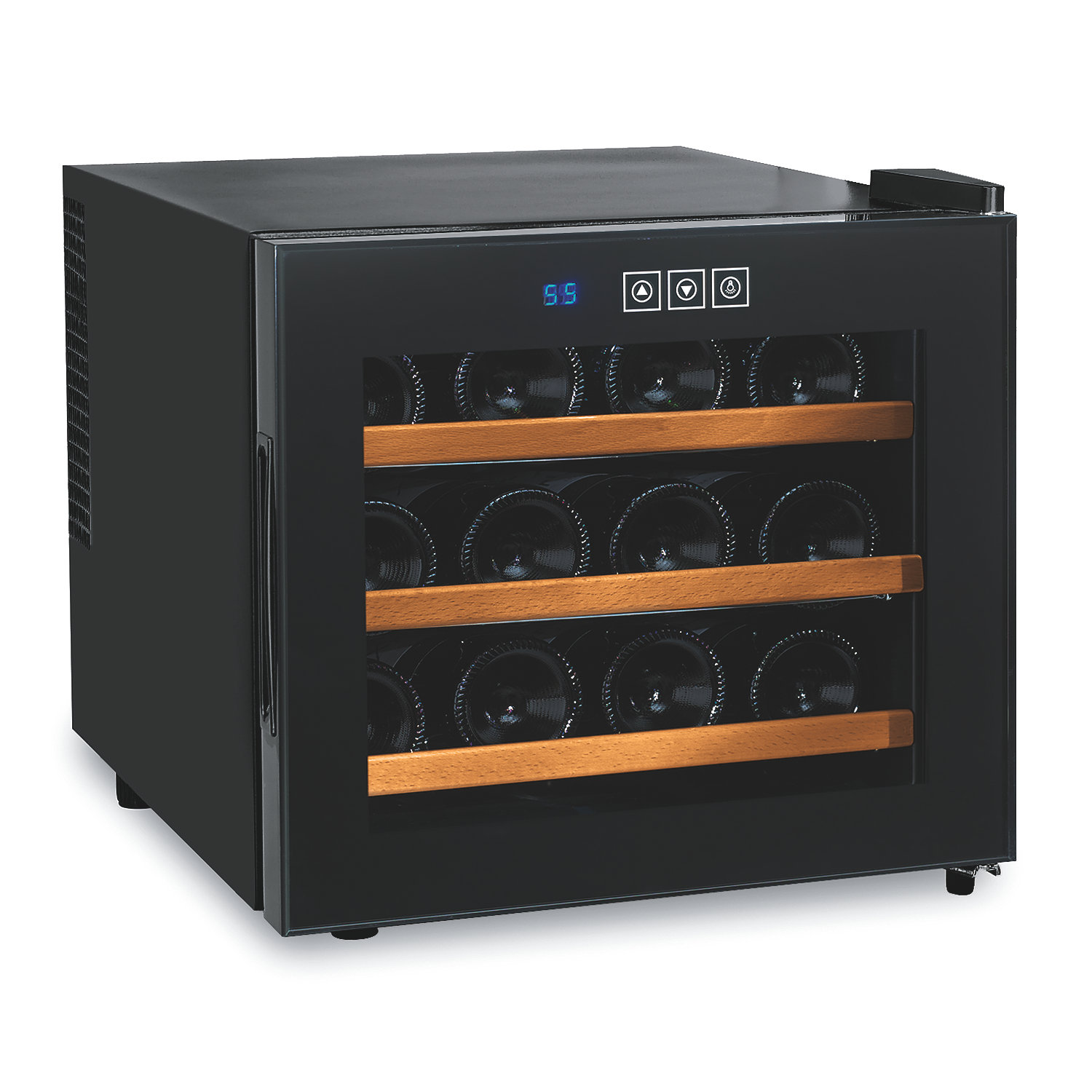 12 Bottle Wine Fridge Part - 21: ... 12 Bottle Touchscreen Wine Refrigerator (Wood Front Shelves). Preparing  Zoom