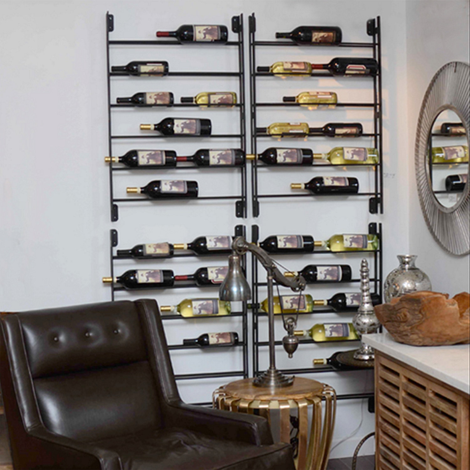 Good Wall Wine Racks Part - 2: ... Wall Ladder Wine Rack. Preparing Zoom