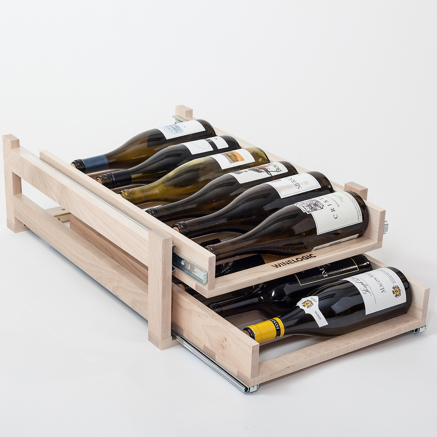 Under Cabinet Wine Racks Wooden Wine Racks Full Wood Wine Rack Selection Wine Enthusiast
