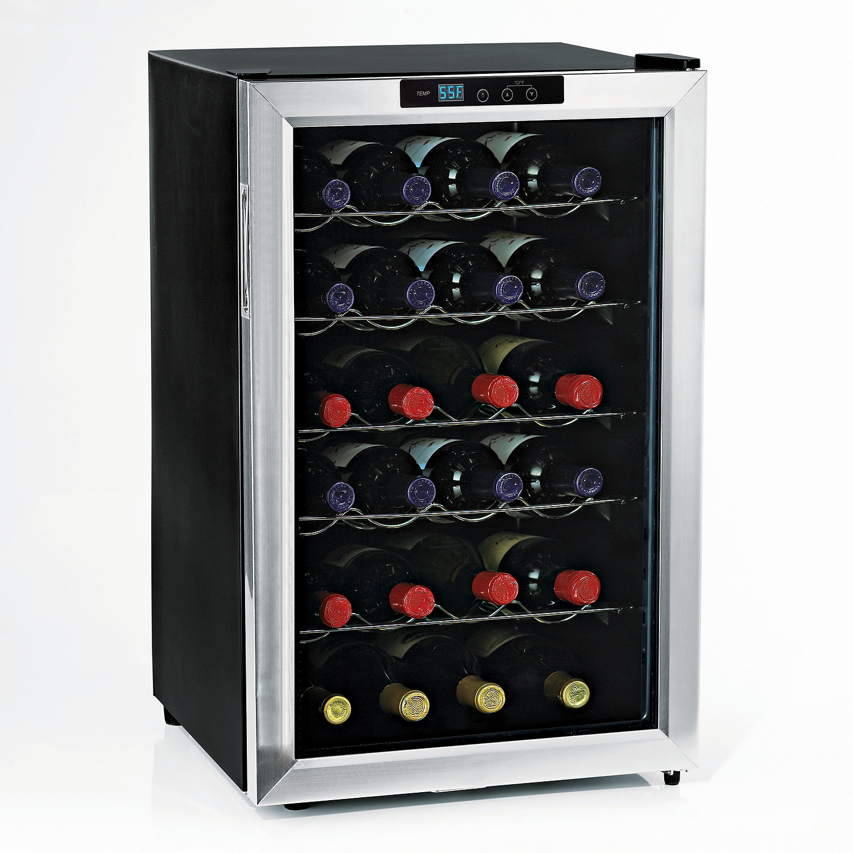 Wine Enthusiast Silent 28 Bottle Wine Refrigerator (Stainless ...