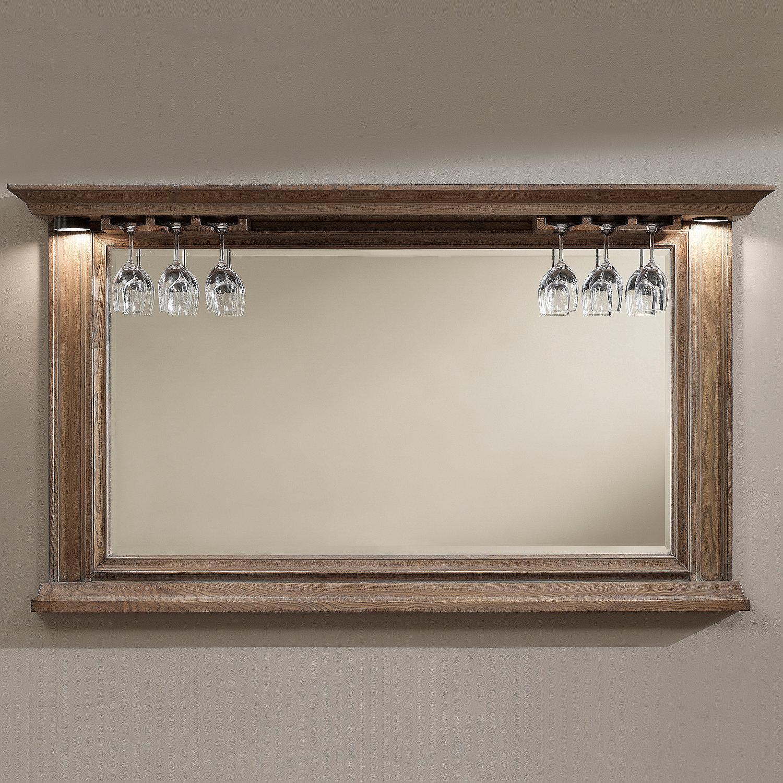Oak bar mirrors with shelves - Preparing Zoom