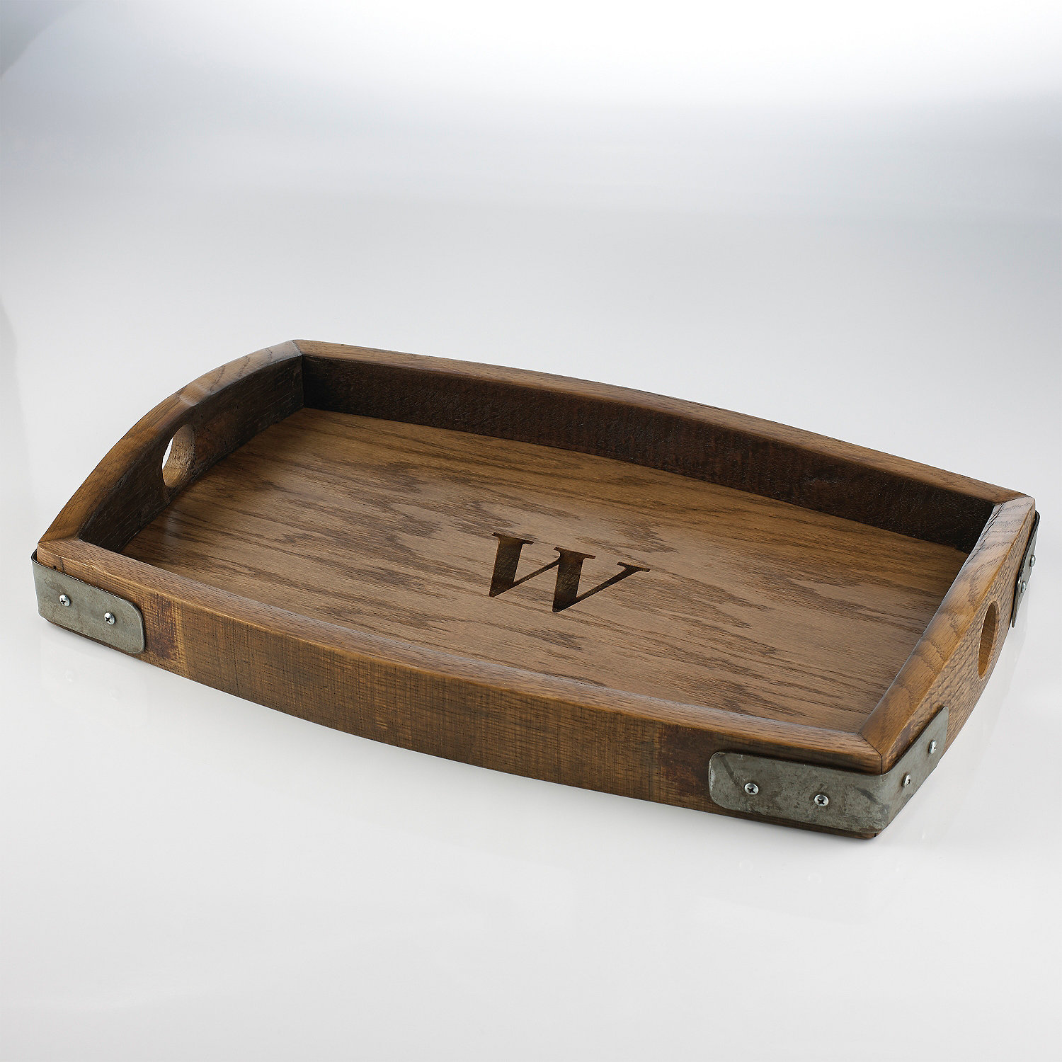 personalized barrel stave serving tray wine enthusiast
