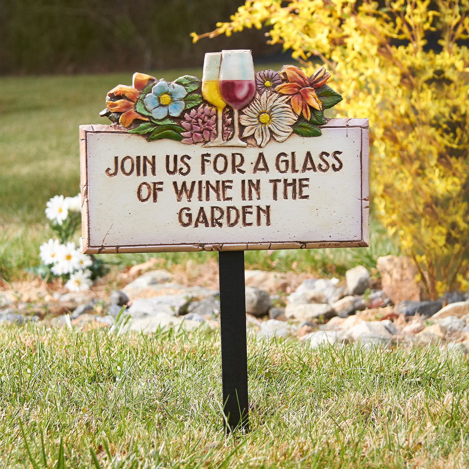 Wine in the Garden Sign Wine Enthusiast