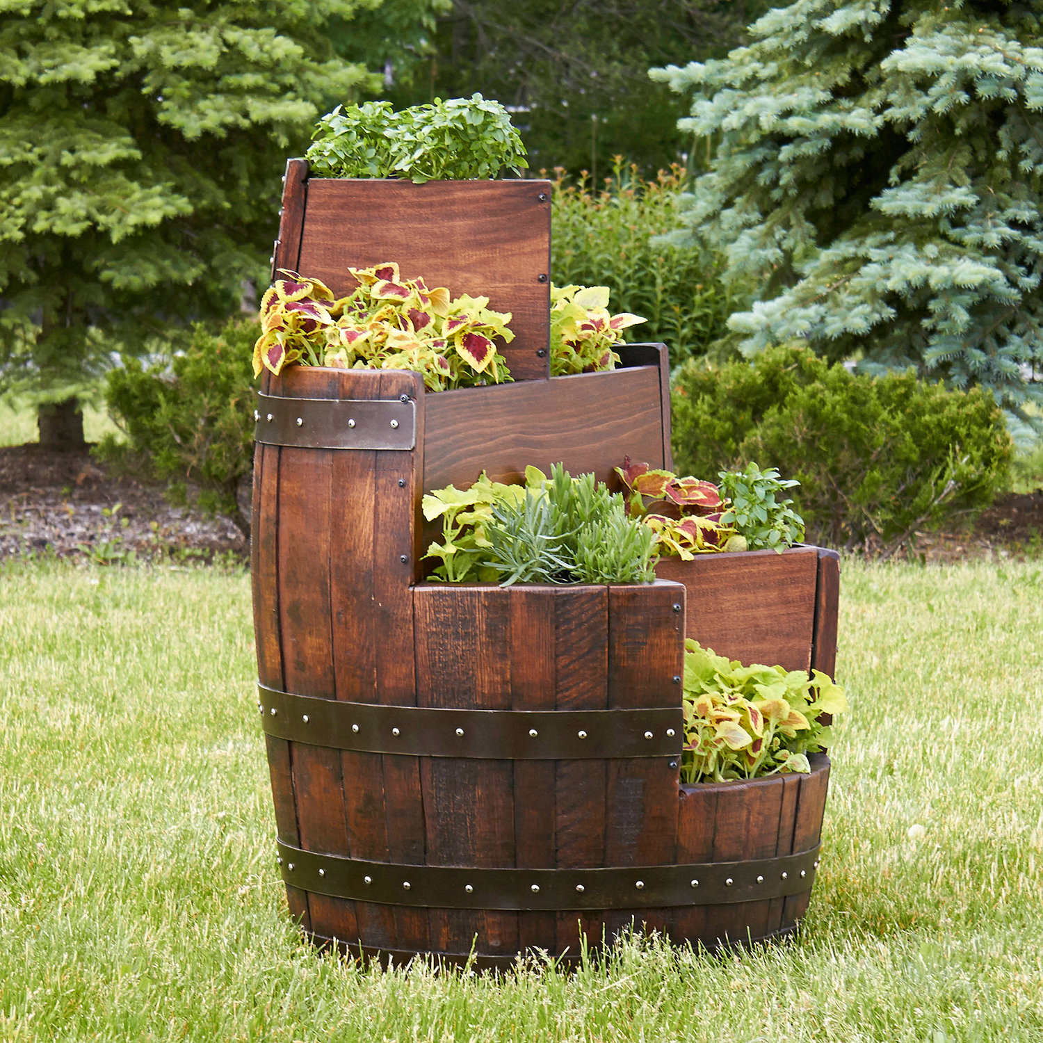 Garden Design: Garden Design with Wine Barrel Planter on Pinterest ...