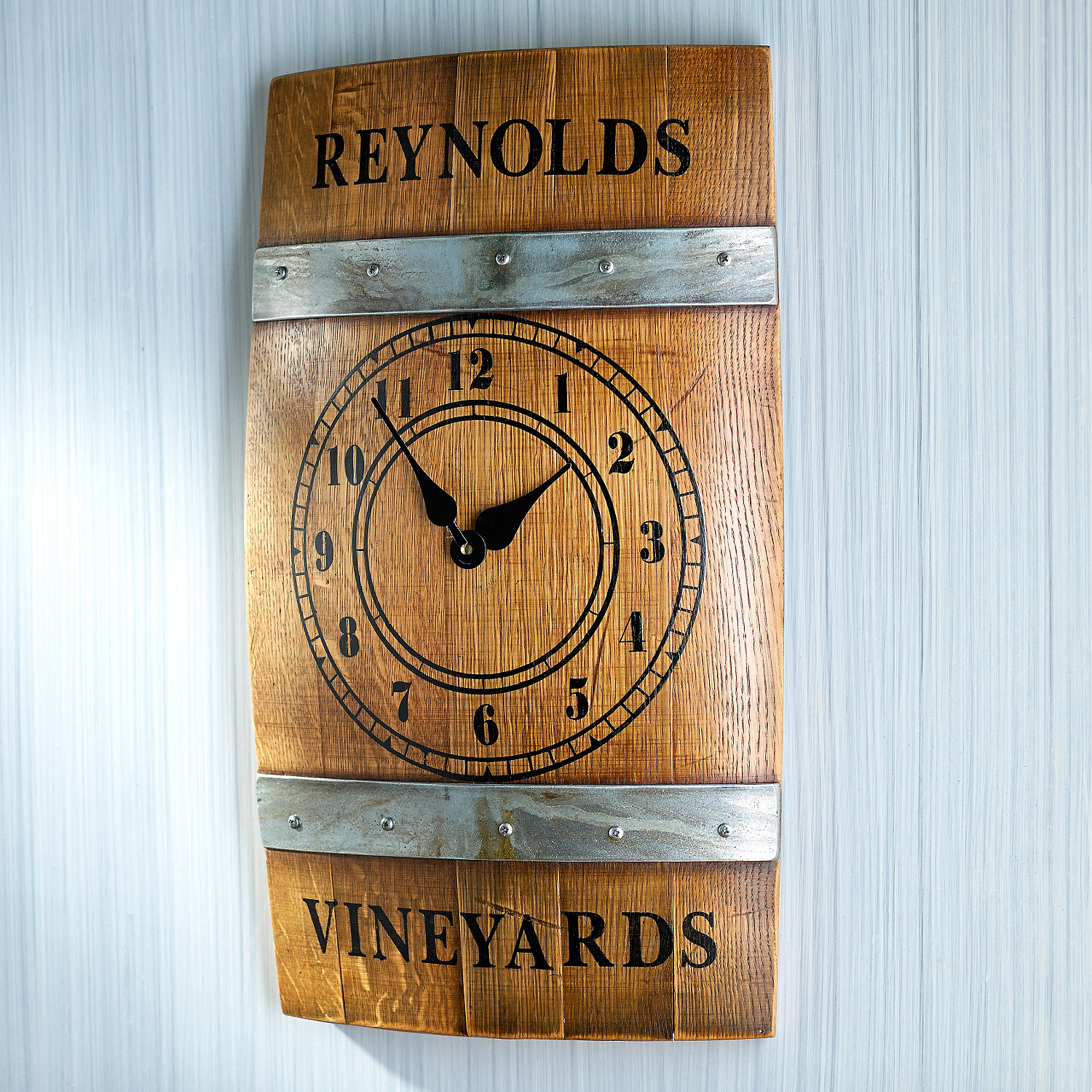 Wine Barrel Wall Decor personalized wine barrel wall clock - wine enthusiast