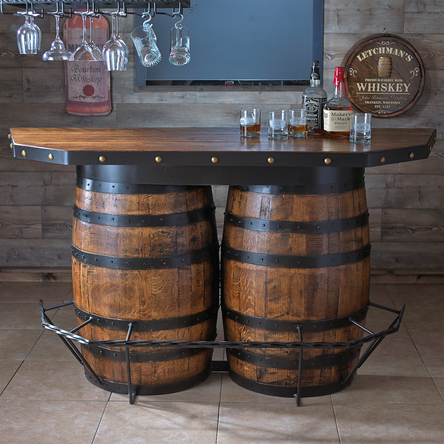 Tennessee Whiskey Barrel Bar - Wine Enthusiast