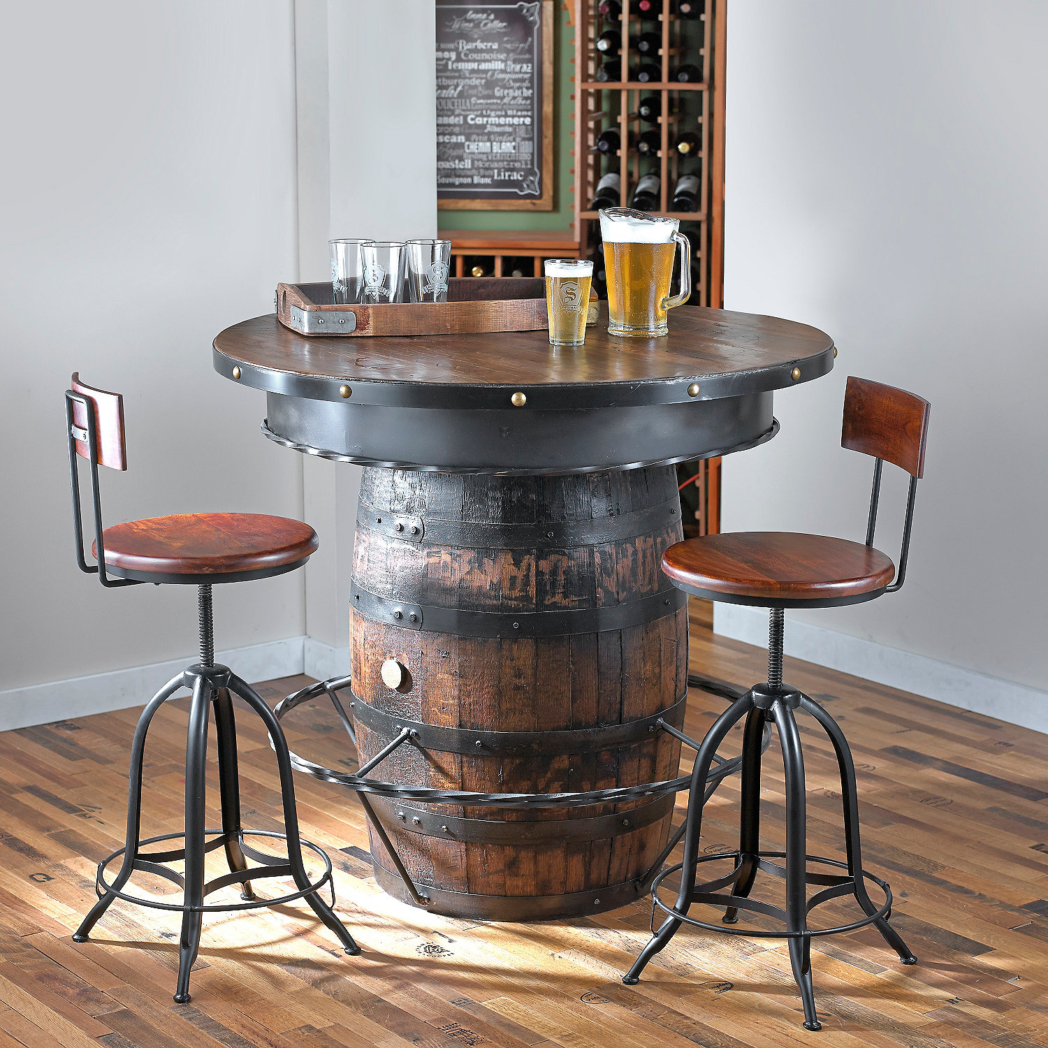 Tennessee Whiskey Barrel Pub Table - Wine Enthusiast