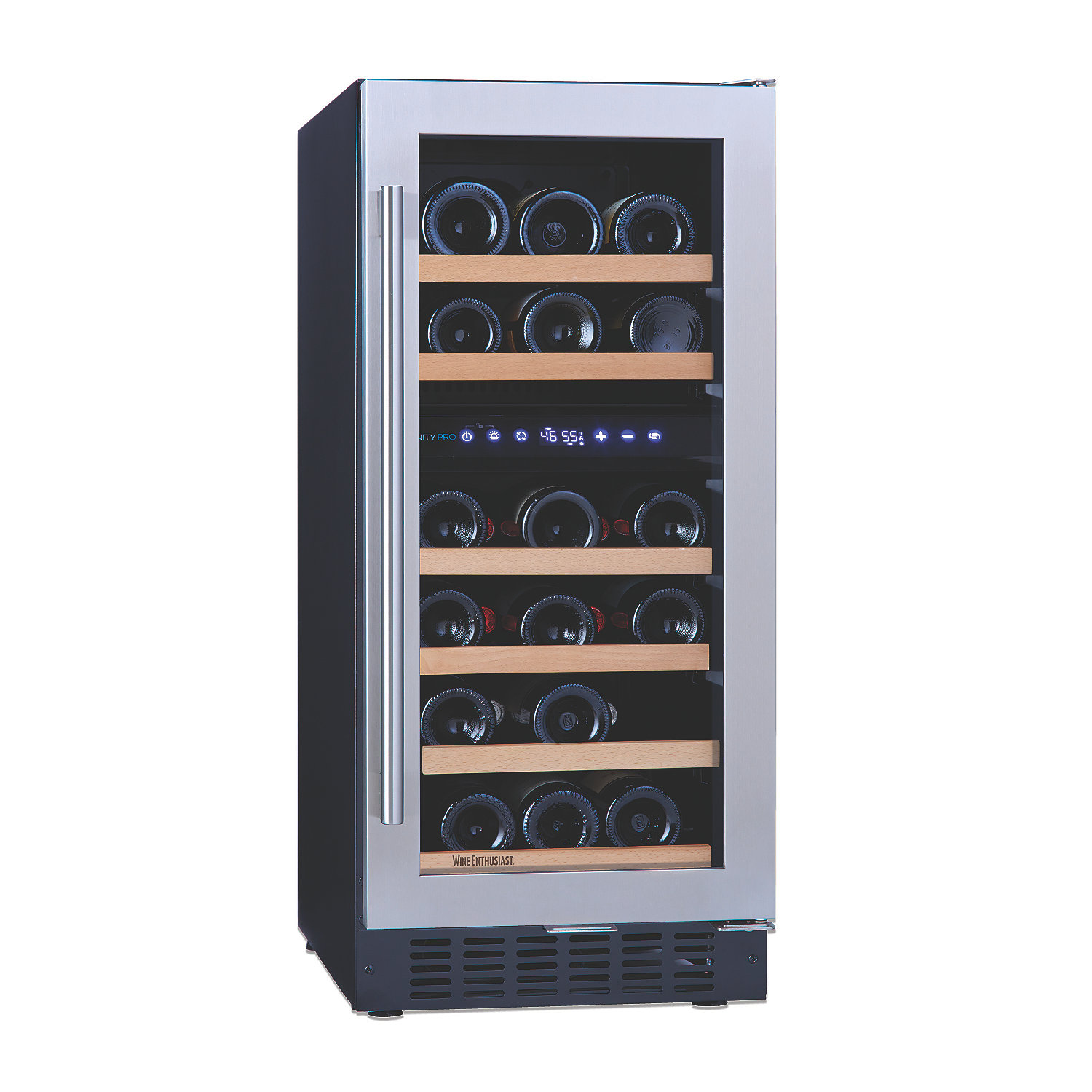 n'finity pro sd dual zone wine cellar  wine enthusiast -  dual zone wine cellar preparing zoom