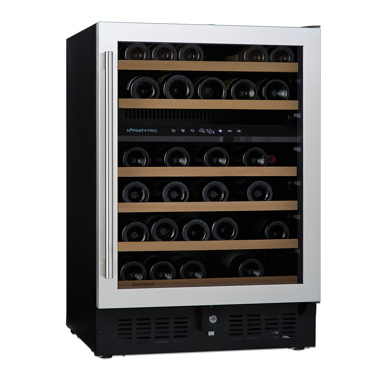 n'finity pro s dual zone wine cellar  wine enthusiast -  dual zone wine cellar preparing zoom