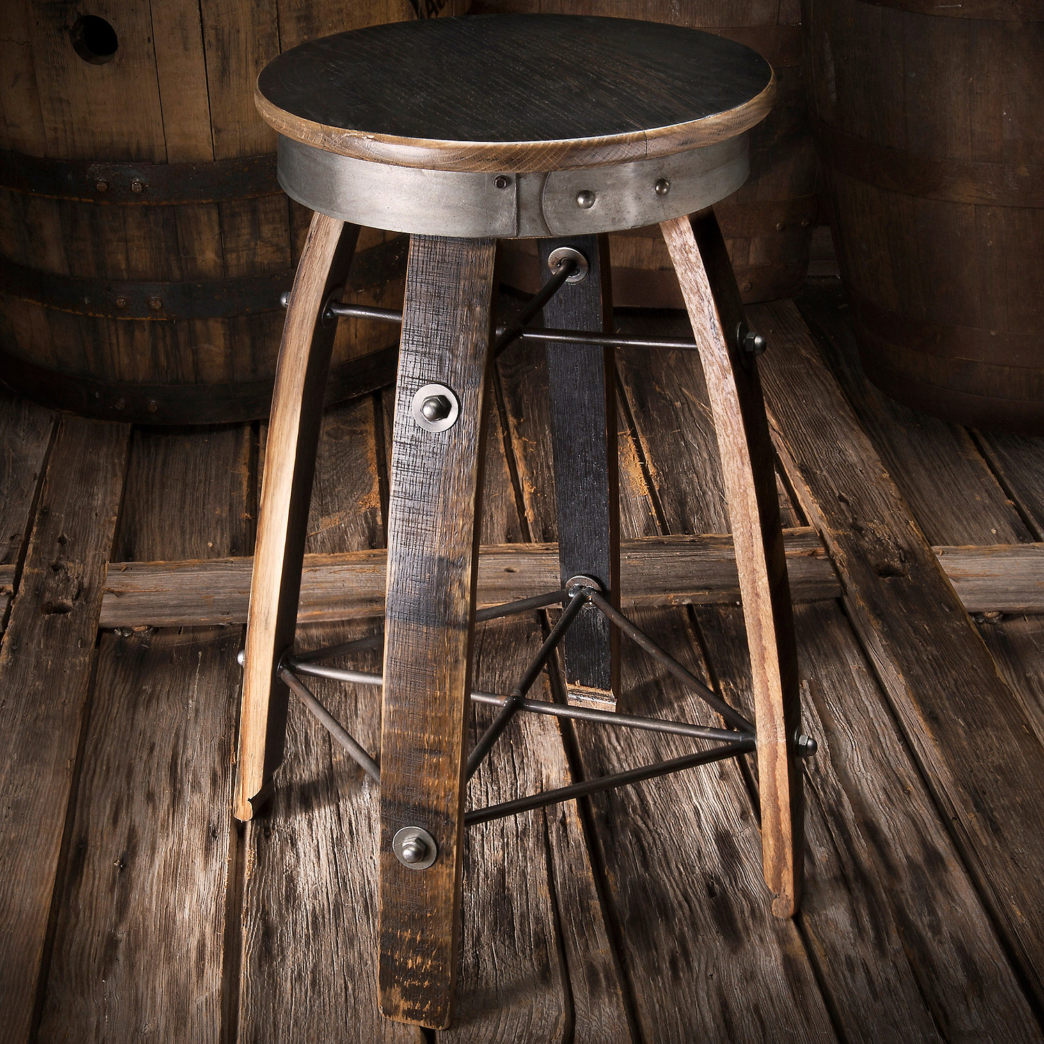 ... Furniture U003e Bourbon Barrel Stave Swivel Stool. Preparing Zoom